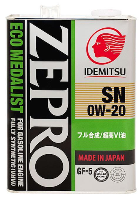 IDEMITSU ZEPRO ECO MEDALIST 0W20 SN/GF-5 японское моторное масло купить